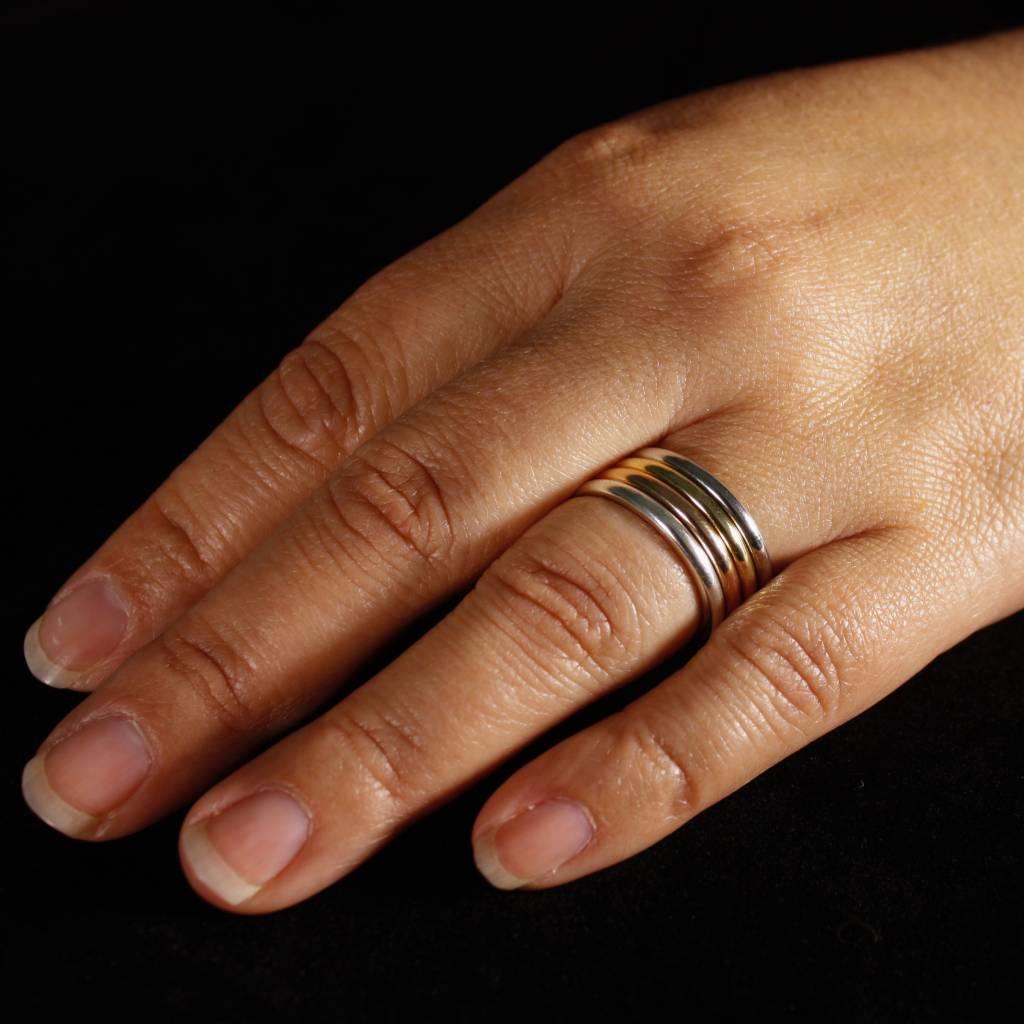 Ring ZONNEBLOEM, zilver-1