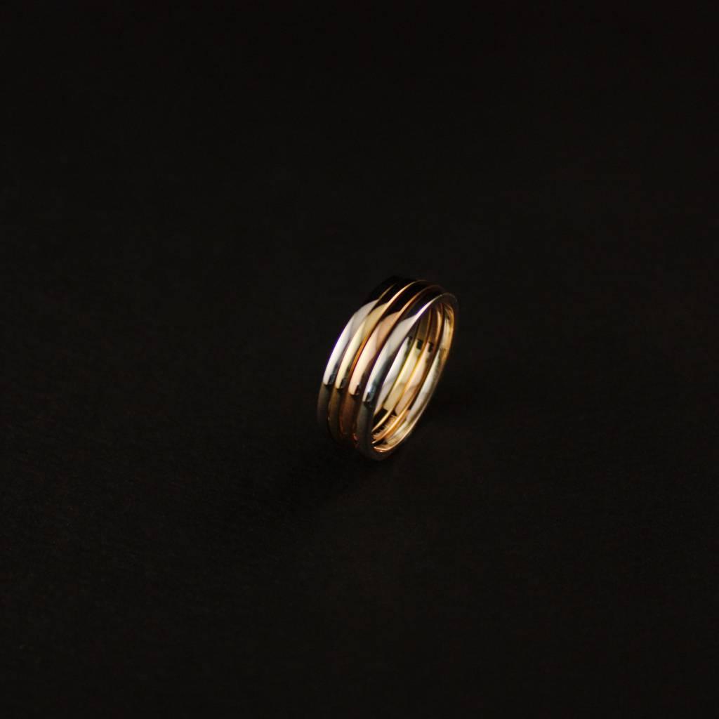 Ring TULP, zilver-3