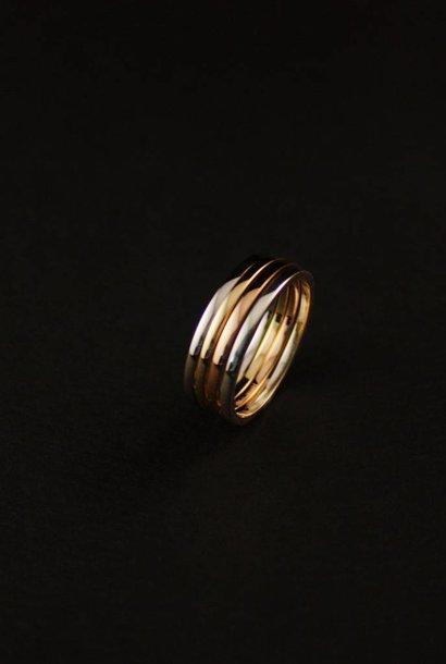 Ring TULP, goud