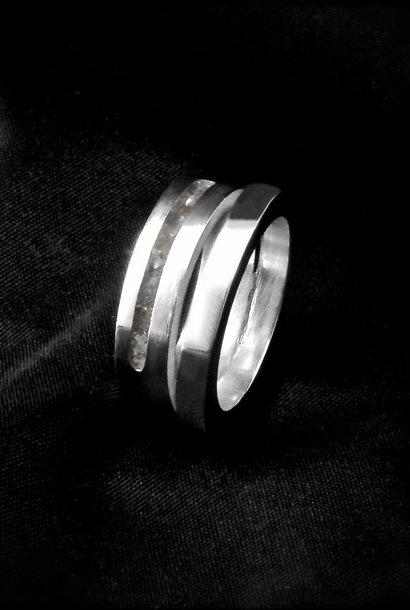 (As)ring LIEFDE, zilver