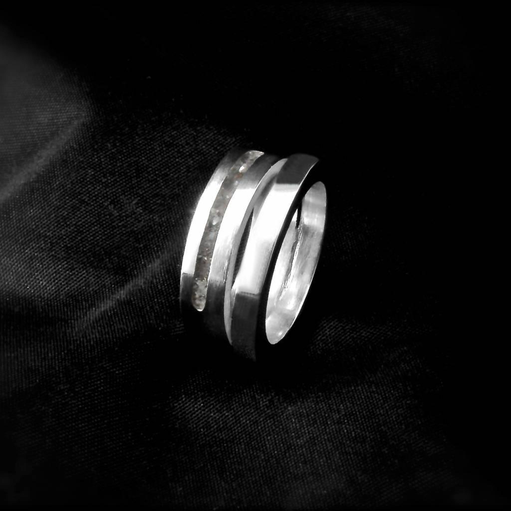 (As)ring LIEFDE, zilver-3
