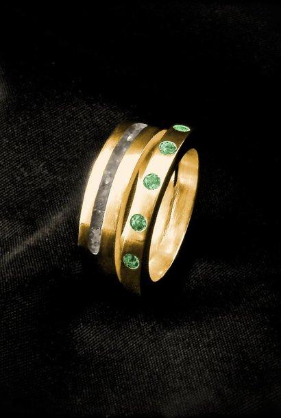 (As)ring LIEFDES, goud