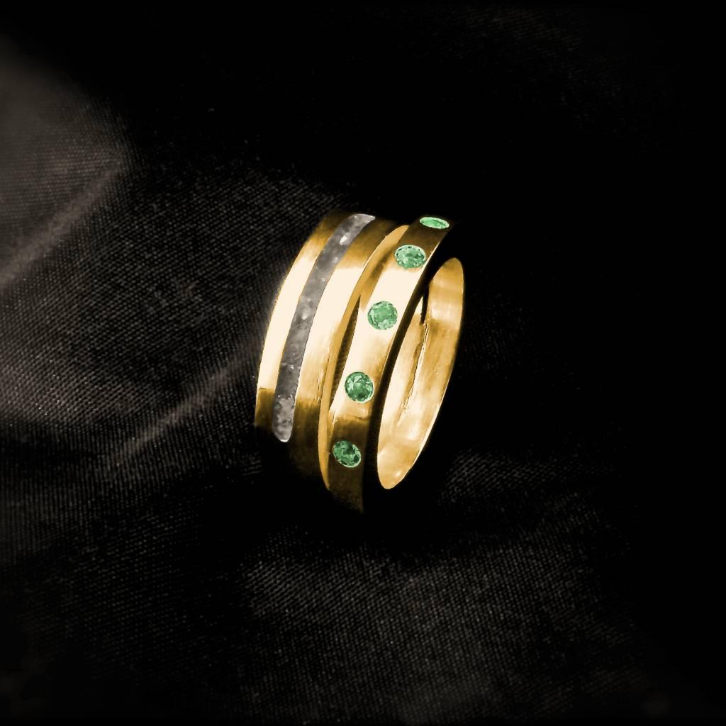 (As)ring LIEFDES, goud-2