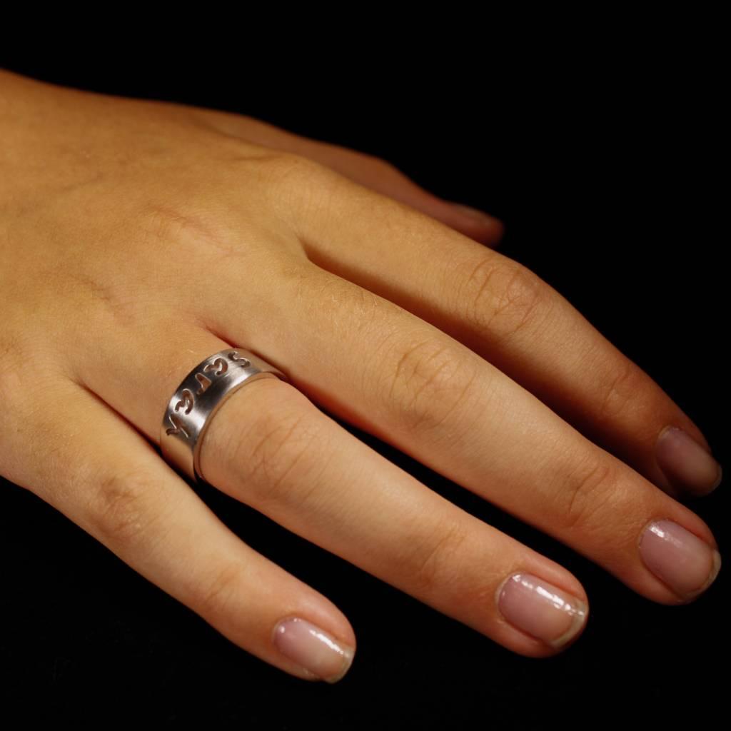 Ring NAAM, zilver-3