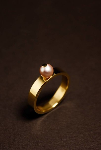 Ring PAREL roze, goud