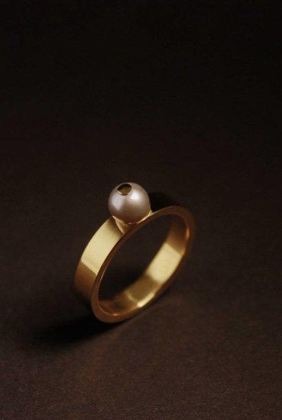 Ring PAREL grijs, goud