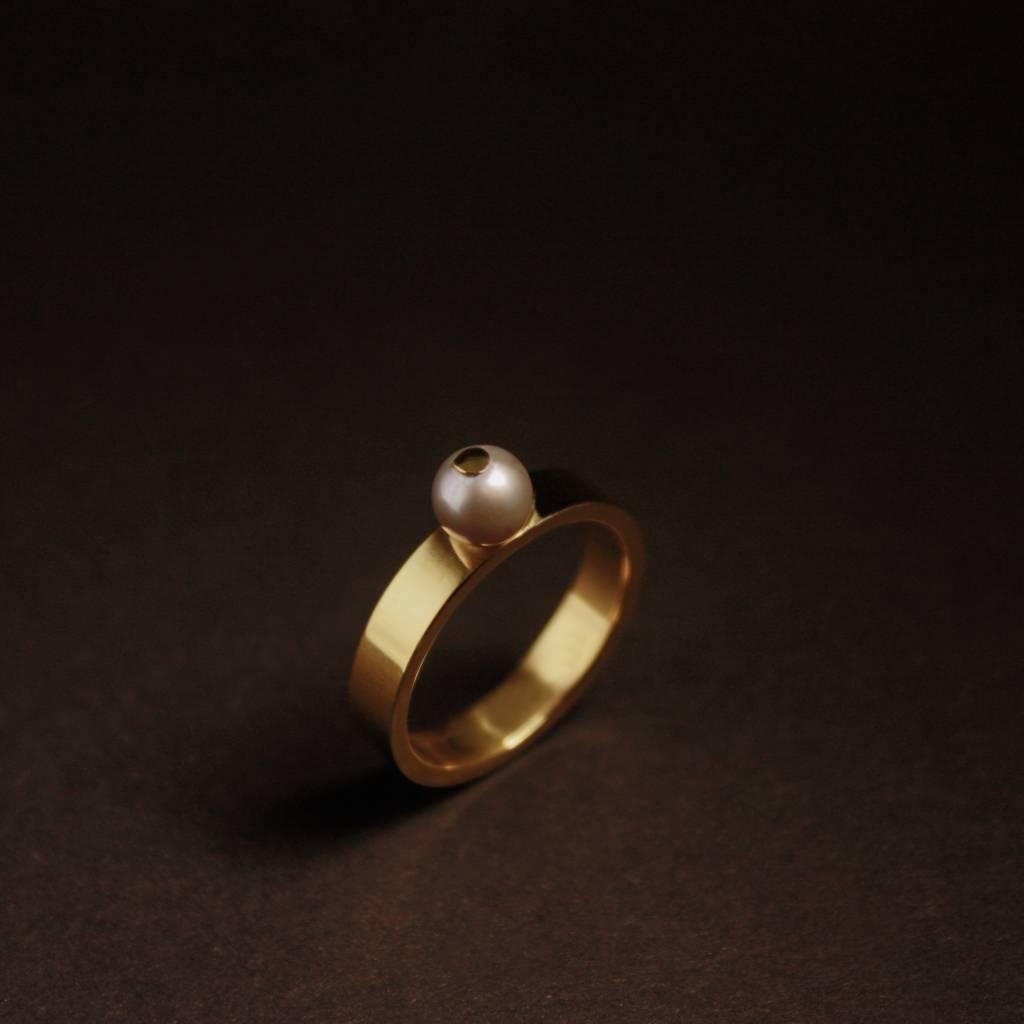 Ring PAREL grijs, goud-1