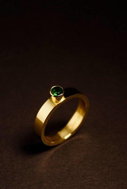 Gouden damesring WARE LIEFDE - Smaragd