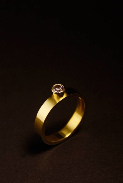 Gouden damesring WARE LIEFDE - LAB grown Diamant