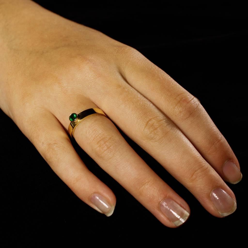 Ring WARE LIEFDE, goud met Smaragd-3