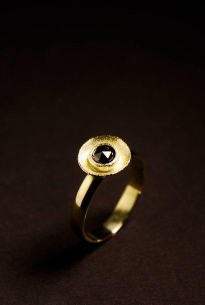 Ring BLACK DIAMOND, goud