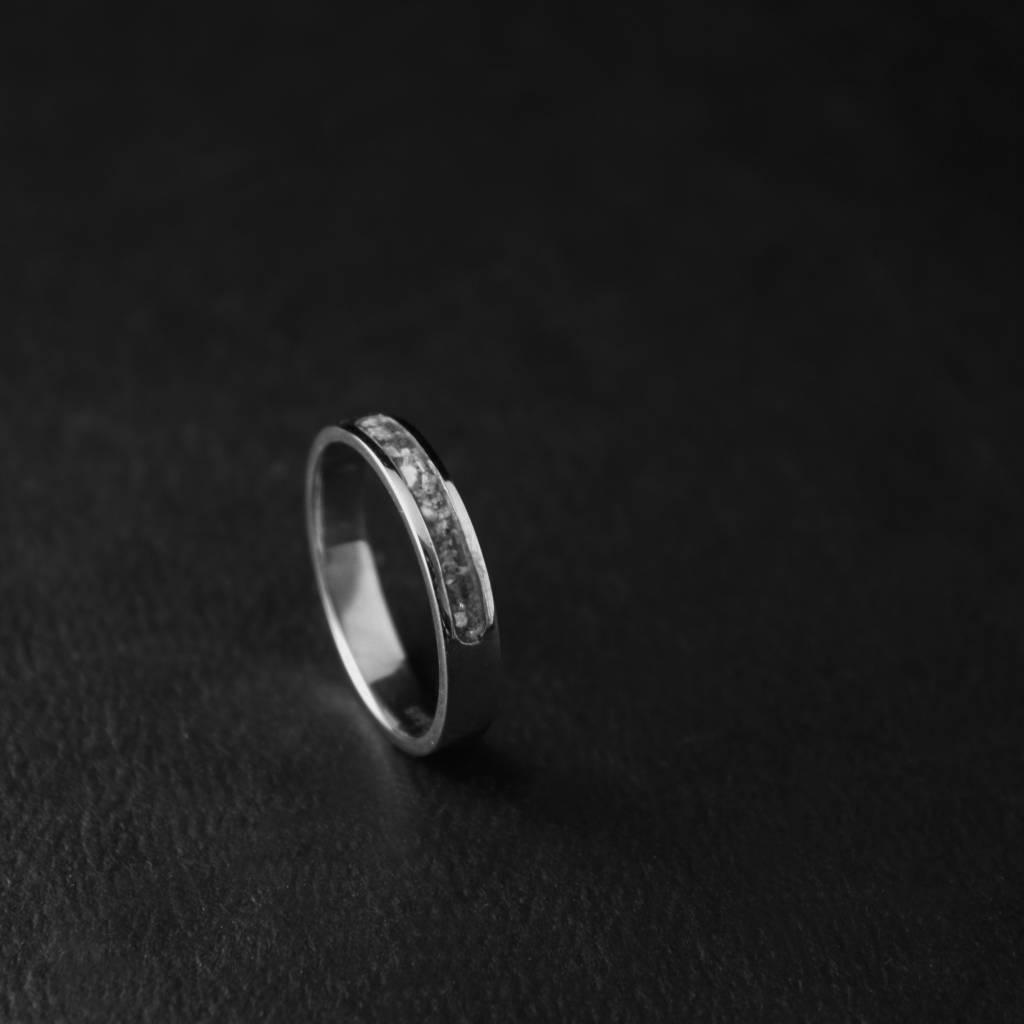 (As)ring DIERBAAR, zilver-1