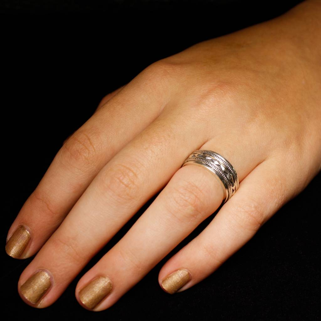Ring ALONG, zilver-2
