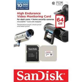 Sandisk 64Gb High Endurance micro SD-kaart