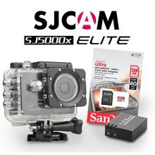 SJCAM SJ5000x Elite Sony IMX078 in Zwart, met extra accu en 128Gb Sandisk kaart