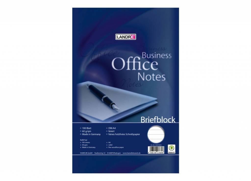 Landré Briefblock A4, 50 Blatt 75 g/qm