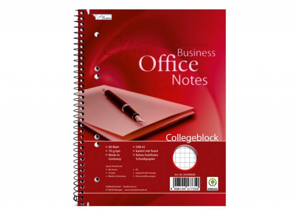 Landré Collegeblock A5 80 Blatt 70 g/qm