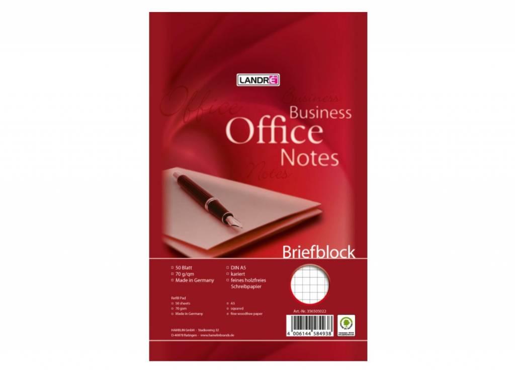 Landré Briefblock A5, 50 Blatt 75 g/qm