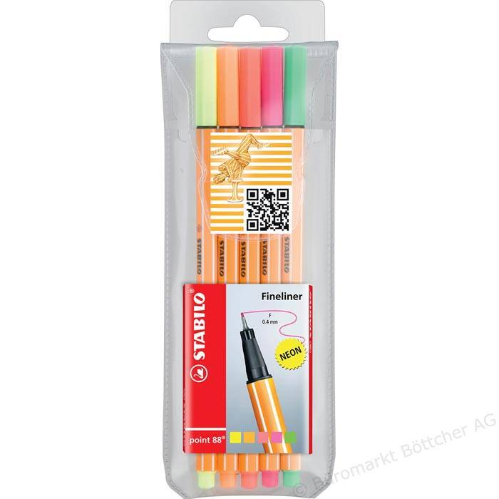 Stabilo Fineliner point 88 Neon-Farben