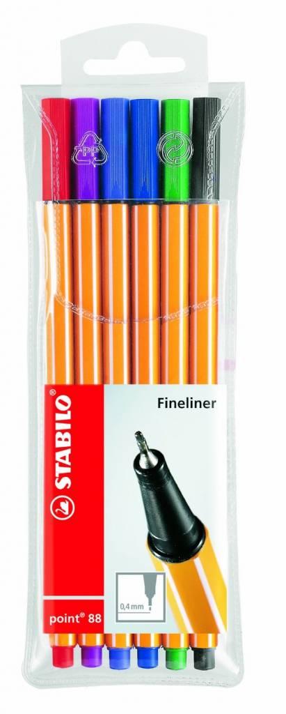 Stabilo Fineliner point 88 6er Etui