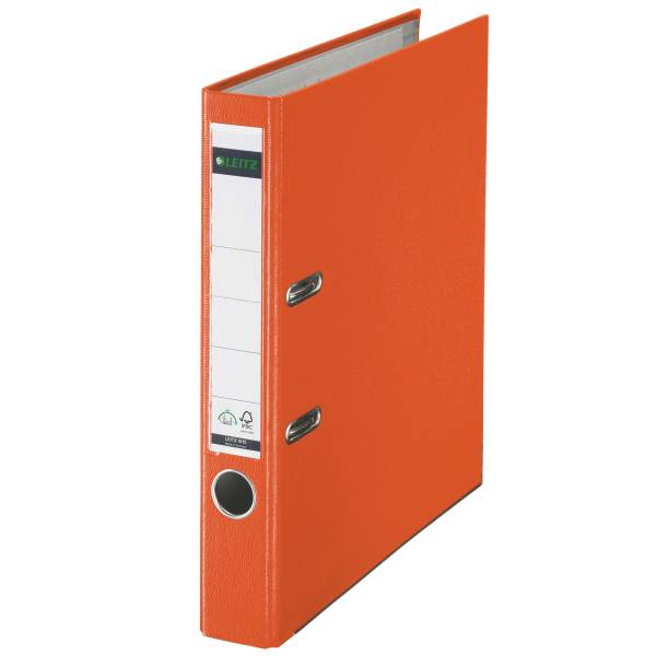 Leitz Qualitäts-Ordner 180° Plastik A4, 52 mm, orange