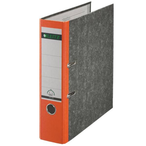 Leitz Qualitäts-Ordner 180° Wolkenmarmor A4, 80 mm, orange