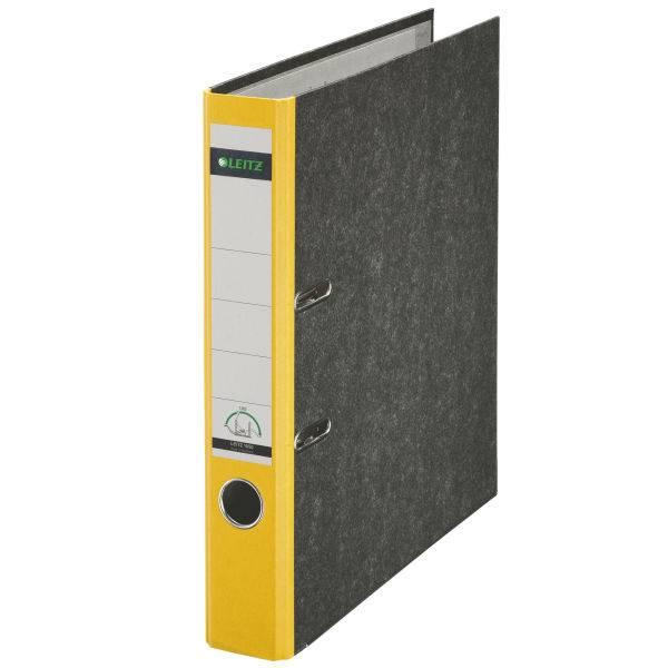 Leitz Qualitäts-Ordner 180° Wolkenmarmor A4, 52 mm, gelb