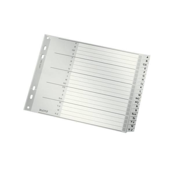Leitz Plastik-Register A-Z, halbe Höhe, 20 Blatt