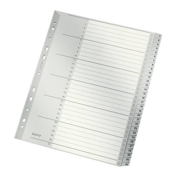 Leitz Plastik-Register Zahlen 1-31, 31 Blatt, DIN A4