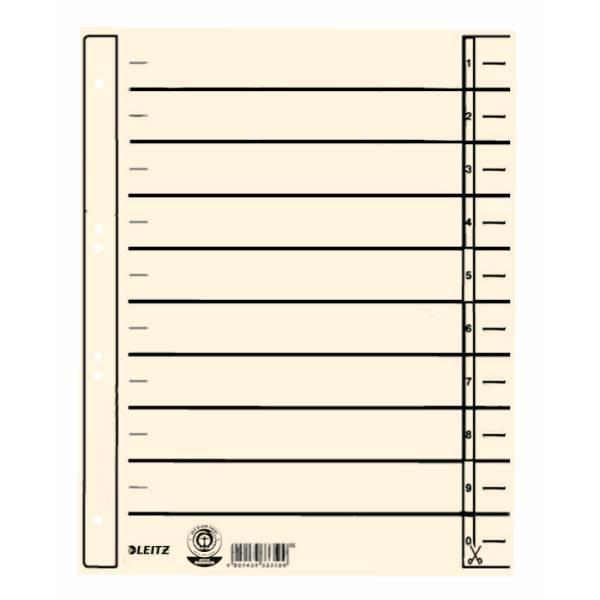Leitz Trennblätter, DIN A4, Lochung hinterklebt, 100 Stück
