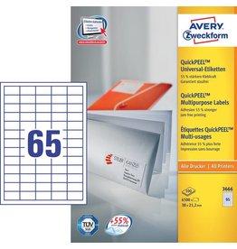 Avery Zweckform Universaletiketten 38,1 x 21,2 mm 100 Blatt