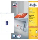 Avery Zweckform Universaletiketten 105 x 74 mm 100 Blatt
