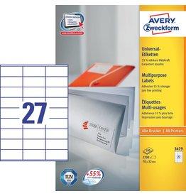Avery Zweckform Universaletiketten 70 x 32 mm 100 Blatt