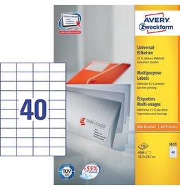 Avery Zweckform Universaletiketten 52,5 x 29,7 mm 100 Blatt