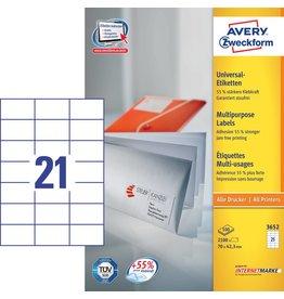 Avery Zweckform Universaletiketten 70 x 42,3 mm 100 Blatt