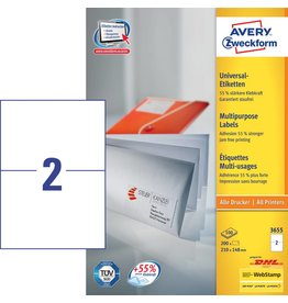 Avery Zweckform Universaletiketten 210 x 148 mm 100 Blatt