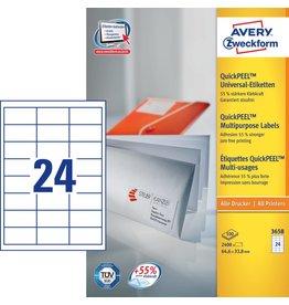 Avery Zweckform Universaletiketten 64,6 x 33,8 mm 100 Blatt