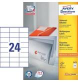 Avery Zweckform Universaletiketten 70 x 36 mm 100 Blatt