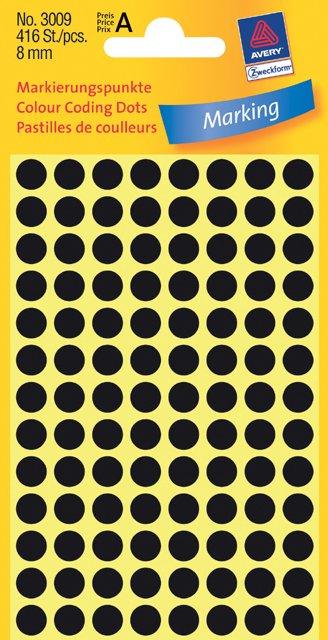 Avery Zweckform Markierungspunkte 8mm, schwarz