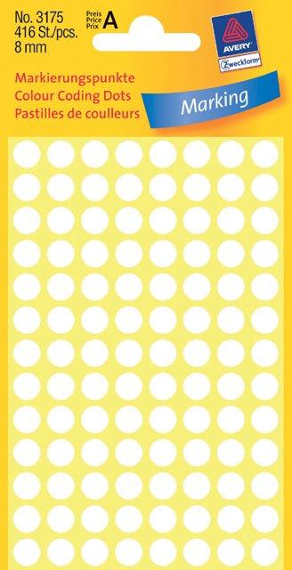 Avery Zweckform Markierungspunkte 8mm, weiß