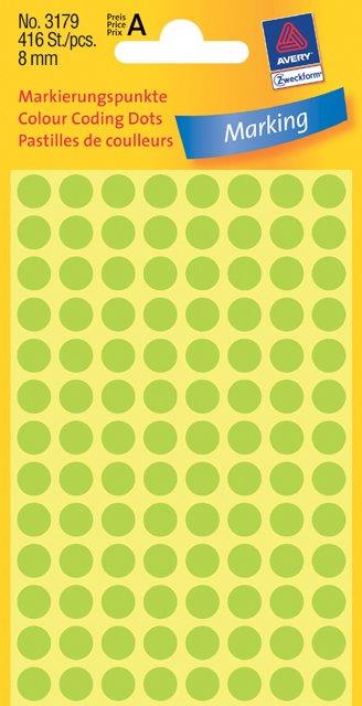 Avery Zweckform Markierungspunkte 8mm, leuchtgrün