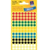 Avery Zweckform Markierungspunkte 8mm, farbig sortiert