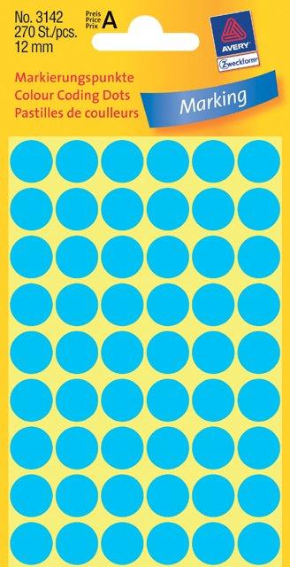 Avery Zweckform Markierungspunkte 12mm, blau
