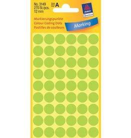 Avery Zweckform Markierungspunkte 12mm, leuchtgrün
