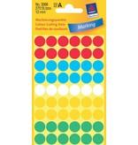 Avery Zweckform Markierungspunkte 12mm, farbig sortiert
