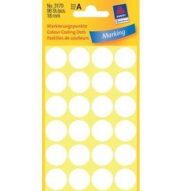 Avery Zweckform Markierungspunkte 18mm, weiß