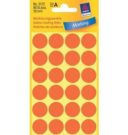 Avery Zweckform Markierungspunkte 18mm, leuchtrot