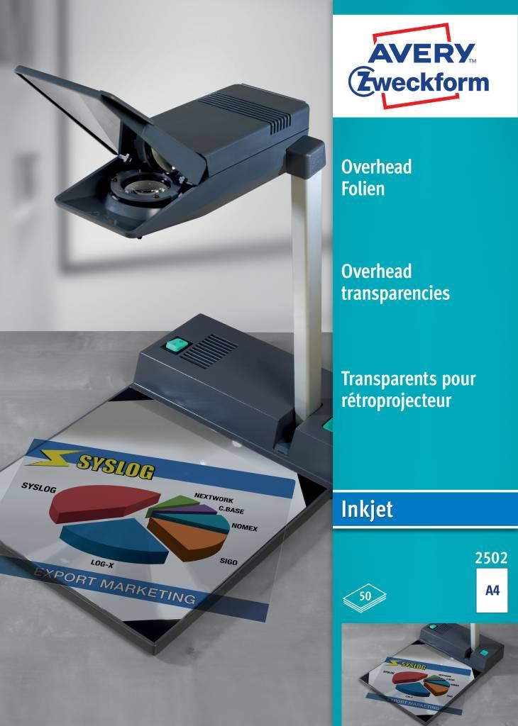 Avery Zweckform Overhead-Folien für Inkjetdrucker, DIN A4, 10 Stück