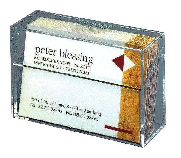 Visitenkartenbox Für Max 100 Karten Bis 86 X 65 Mm