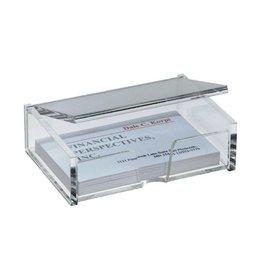 sigel Visitenkartenbox für max. 80 Karten bis 90 x 58 mm
